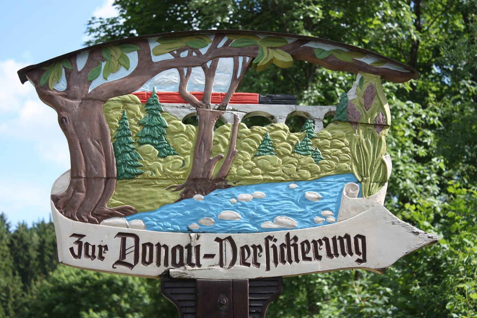 Donauversinkung (Schild)